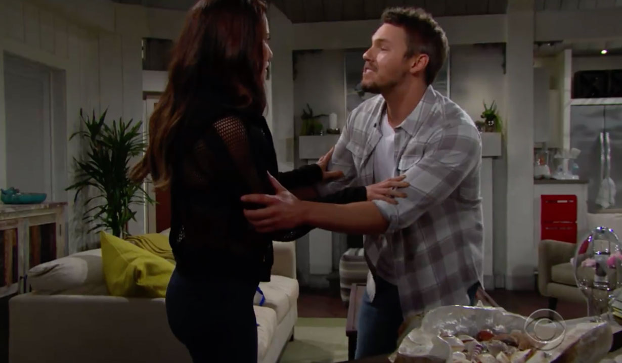 Liam tells Steffy about Beth on The Bold and the Beautiful