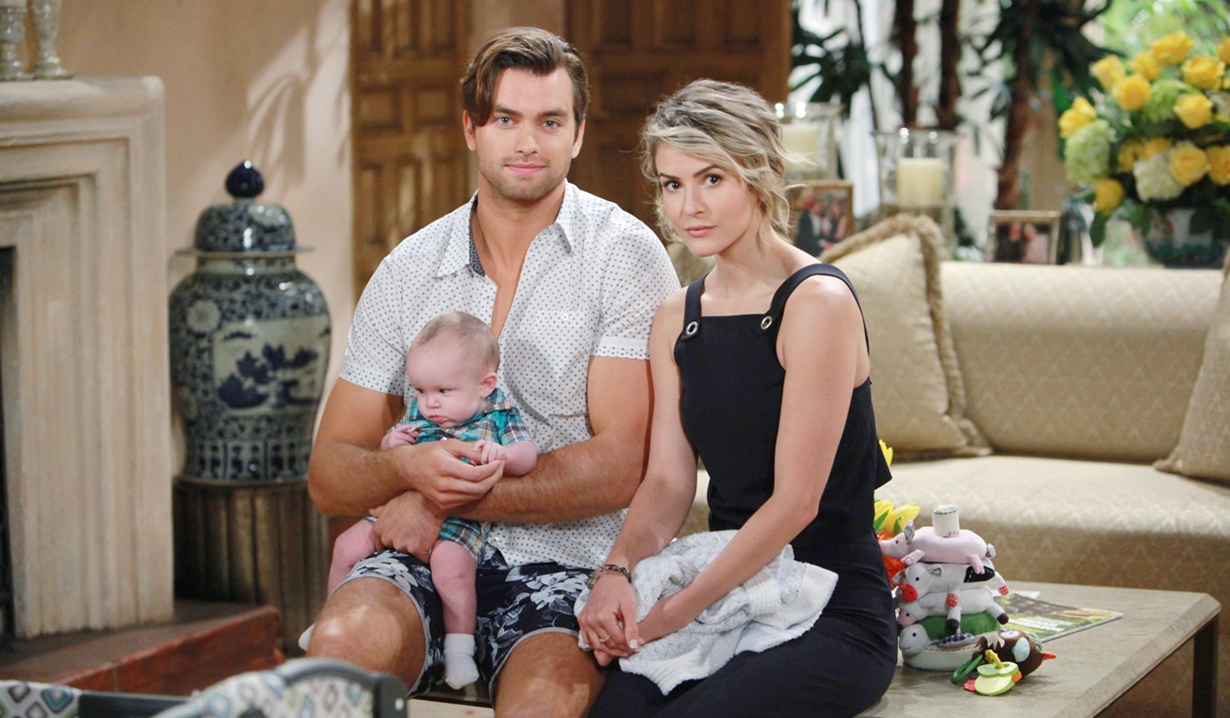 Thomas, Caroline and their son Douglas on Bold and Beautiful