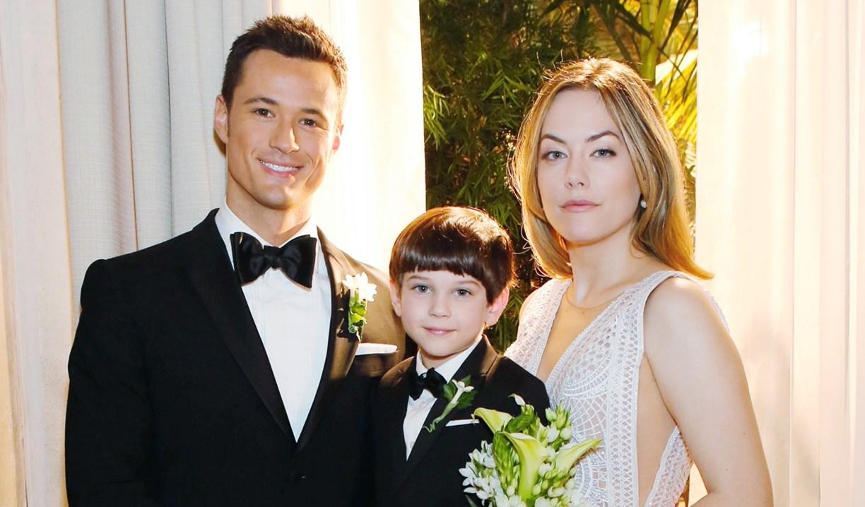 Hope looks stoic in Thomas, Douglas wedding photo Bold and Beautiful