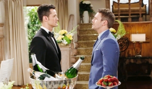Thomas and Liam face off on wedding day Bold and Beautiful
