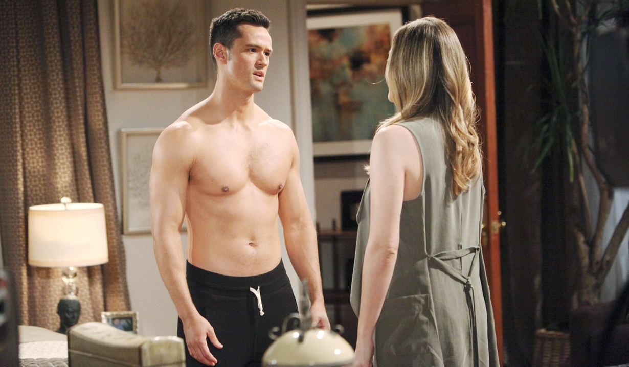 Thomas shirtless with Hope Bold and Beautiful