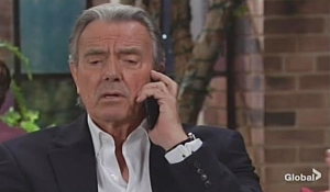 Victor takes a call Young and Restless