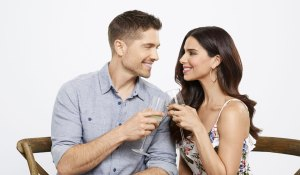 eric winter and Roselyn Sanchez in Hallmark's A Taste of Summer