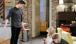 Ben, Marlena, Tripp at loft Days of our Lives