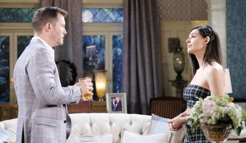 brady and gabi talk plan to trap stefan on days of our lives