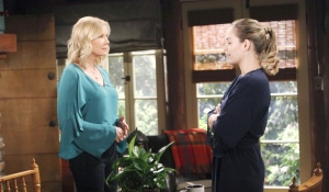 Brooke visits Hope at the cabin on Bold and Beautiful
