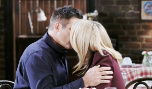 Carrie and Rafe kiss in pub on Days of our Lives