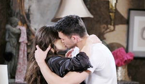 cin kisses at his place days of our lives