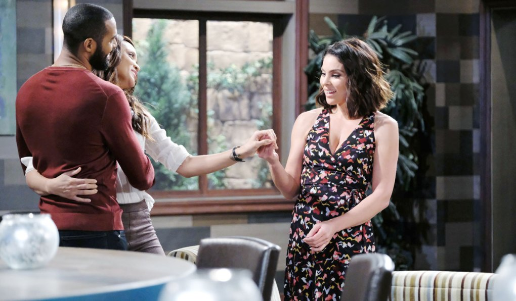 eli and lani show chloe engagement ring on days of our lives