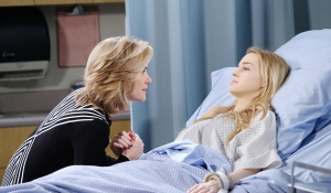 eve visits claire hospital days of our lives