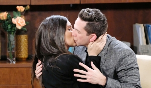 gabi kisses stefan days of our lives