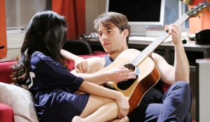 JJ plays guitar for Haley on Days of our Lives