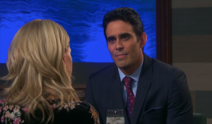 Henry and Jenn on a date on Days of our Lives