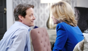 Jack and Eve smile on Days of our Lives