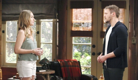 Liam visits Hope on Bold and Beautiful