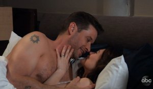 liz and franco in bed before reception on general hospital