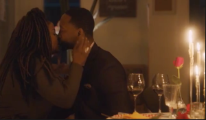 Rondell and Kent kiss at their candlelit dinner on Ambitions