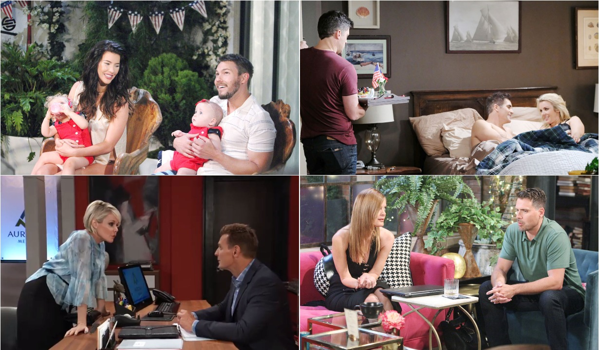 bold and beautiful days of our lives general hospital young and the restless roundup July 8