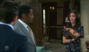 Stefan, Abe and Gabi strategize on Days of our Lives