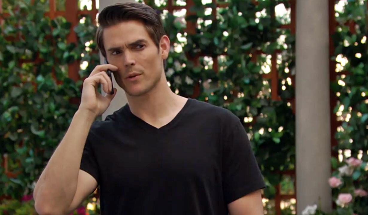 Adam in the park Young and Restless