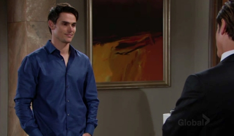 Adam smirks at Michael Young and Restless
