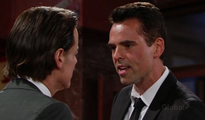 Billy confronts Michael Young and Restless