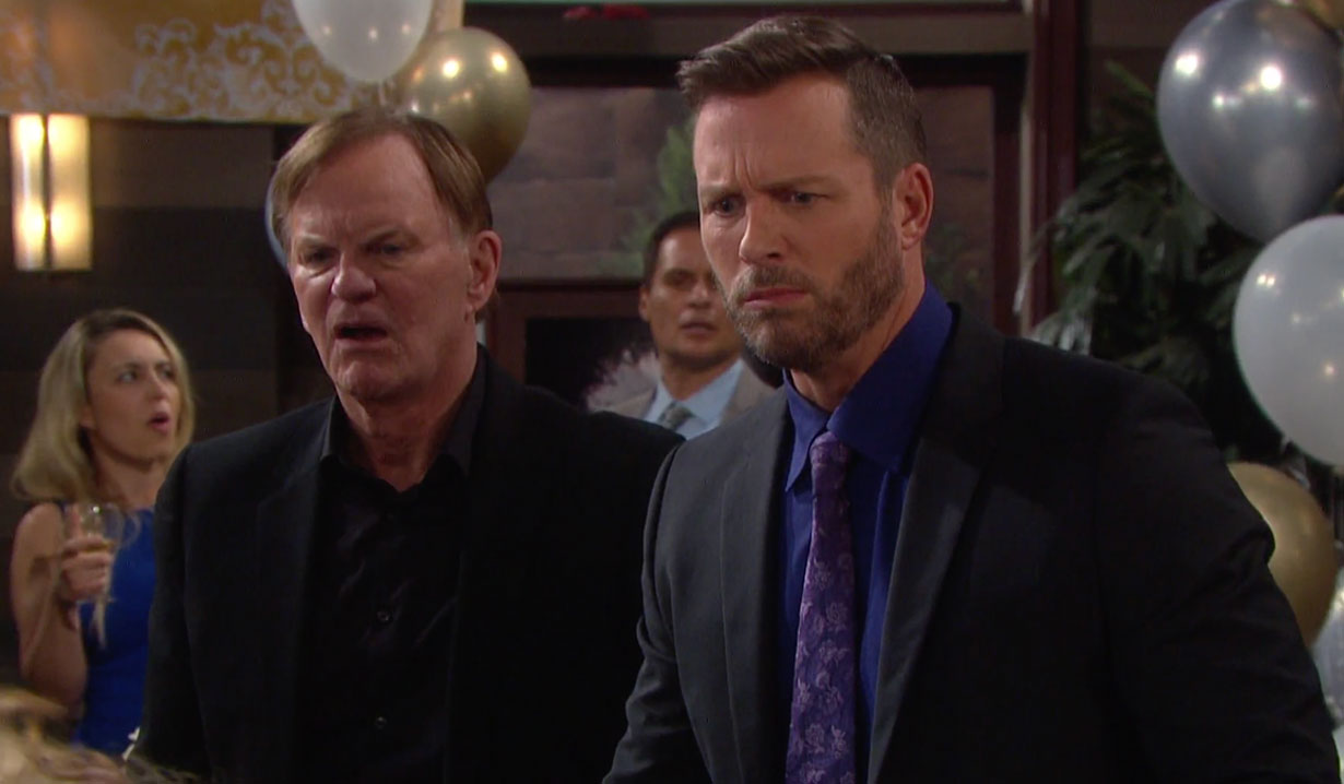 Brady and Roman are shocked on Days of our Lives