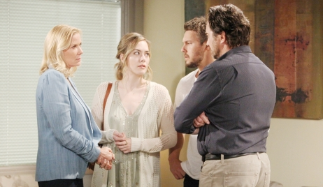 Brooke and Hope look at Ridge and Liam Bold and Beautiful