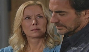 Brooke and Ridge are grilled on Bold and Beautiful