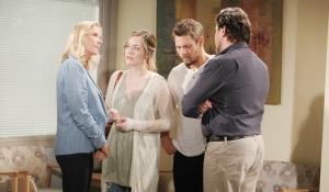 Brooke looks at Ridge with Hope, Liam Bold and Beautiful