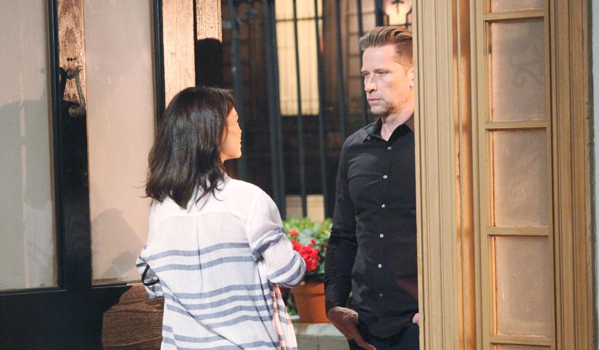 Franco at Liz's door on General Hospital