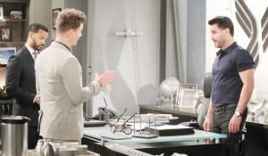 Bill giura a Justin e Wyatt che Flo pagherà Bold and Beautiful