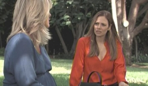 Kim and Carly talk babies General Hospital