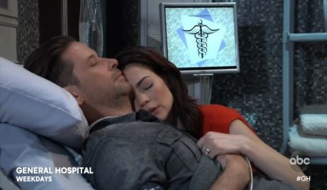 Liz waits for Franco to wake General Hospital