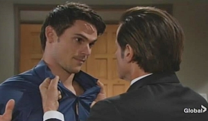 Michael grabs Adam Young and Restless
