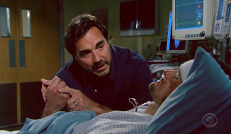 Ridge and Thomas at the hospital on Bold and the Beautiful