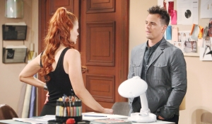 Wyatt approaches Sally to apologize Bold and Beautiful