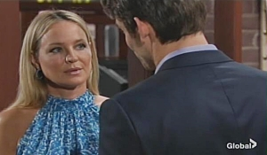 Sharon and Adam flirt Young and Restless