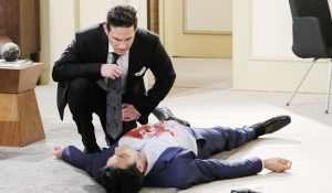 Stefan finds Ted's dead body Days of our Lives