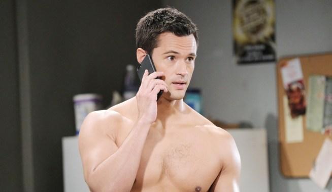 Thomas takes phone call Bold and Beautiful