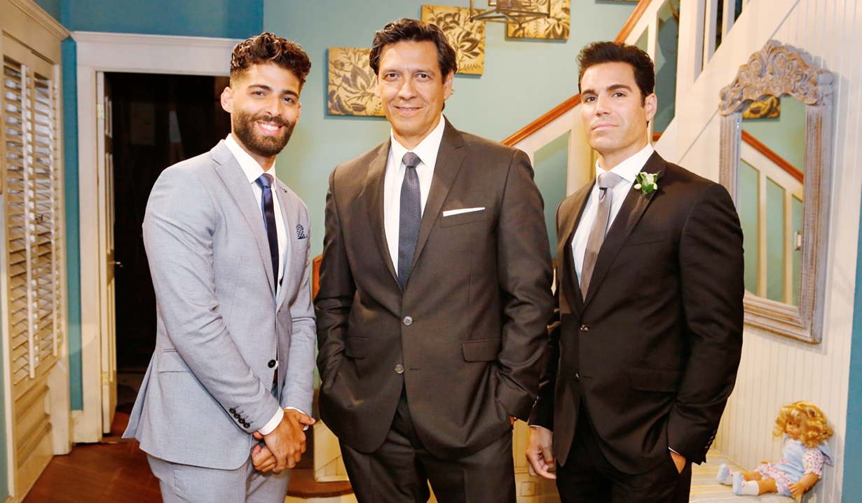 Arturo, Adrian and Rey at wedding Young and Restless