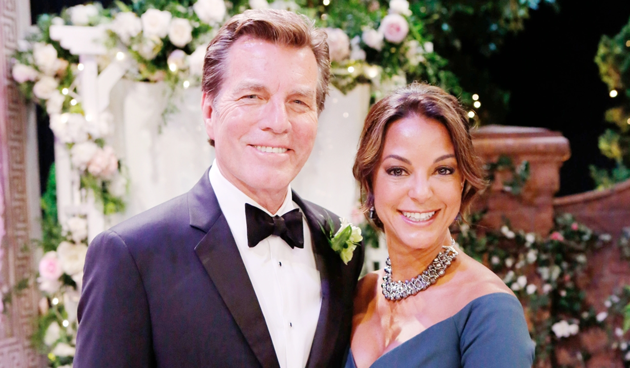 Jack and Celeste at wedding Young and Restless