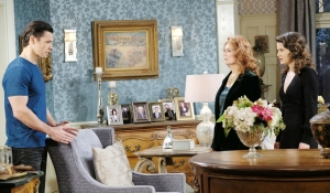 Xander explains to Maggie and Sarah Days of our Lives