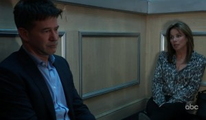 Alexis and Neil stuck on the elevator on General Hospital