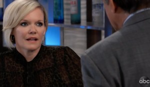 Ava talks with Kevin at Metro Court on General Hospital