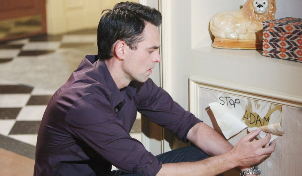 billy reads stop adam under wallpaper on young and restless
