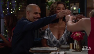 Devon and Elena toast with Abby The Young and the Restless