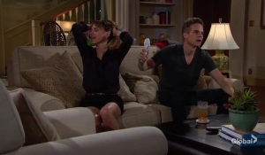 Kevin and Chloe deal with the heat The Young and the Restless