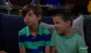 Connor and Christian play games The Young and the Restless