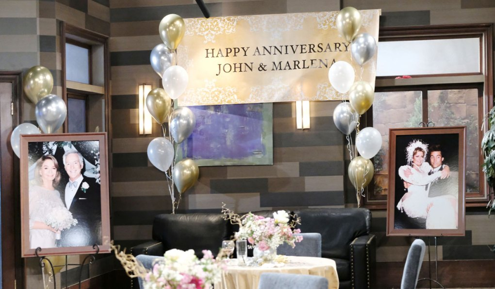 marlena and john's anniversary party at doug's place on days of our lives